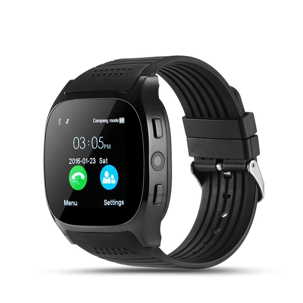 T8 Bluetooth Astuto Della Vigilanza Con La Macchina Fotografica Facebook Whatsapp Supporto SIM Carta di TF Chiamata Smartwatch Per Android Del Telefono PK M26 DZ09