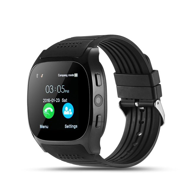 T8 Bluetooth Smart Watch With Camera Facebook Whatsapp Support SIM TF Card Call