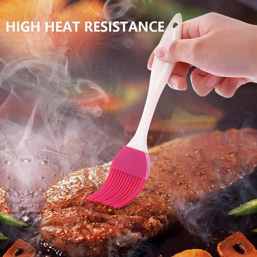 1 pc silicone baking basting escova novo óleo líquido bolo escova cor aleatória creme de pastelaria para pão churrasco utensílio segurança cozinhar ferramentas