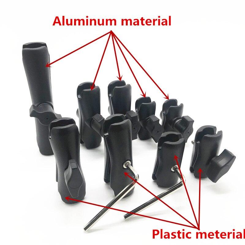 5.5cm 6.1cm 6.5 Cm 9cm 9.4cm 9.5cm 15cm Aluminum Or Plastic Shell Double Socket Arm For 1 Inch Ball Mount Bases For Gopro Hero7