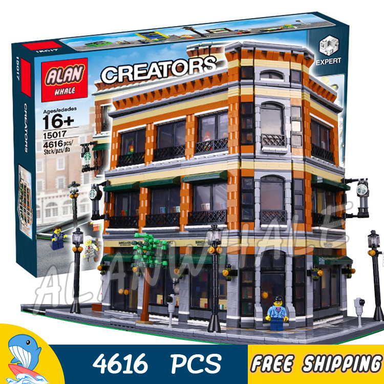 4616pcs new 15017 diy cafe bookstore model modular for Cost of building blocks in jamaica 2017