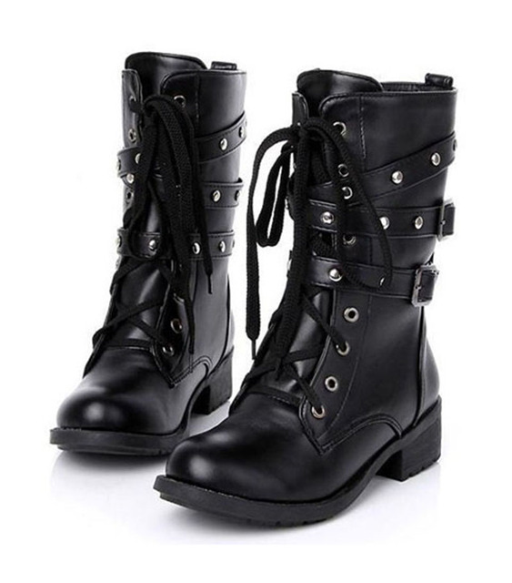 9492c33f3a7 Shoes Woman Shoes For Women Short Boots Thick Martin Boots Line Skin Buckle  Boots Short Black Boots ladies' Shoes .DFGD 805-in Mid-Calf Boots from ...