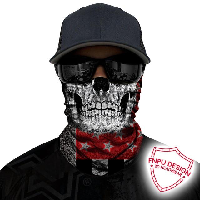 BJMOTO Windproof Multicolor Magic Head Face Mask Neck Gaiter Snood Headwear Motorcycle Cycling Tube Scarf Men Women Headband 5