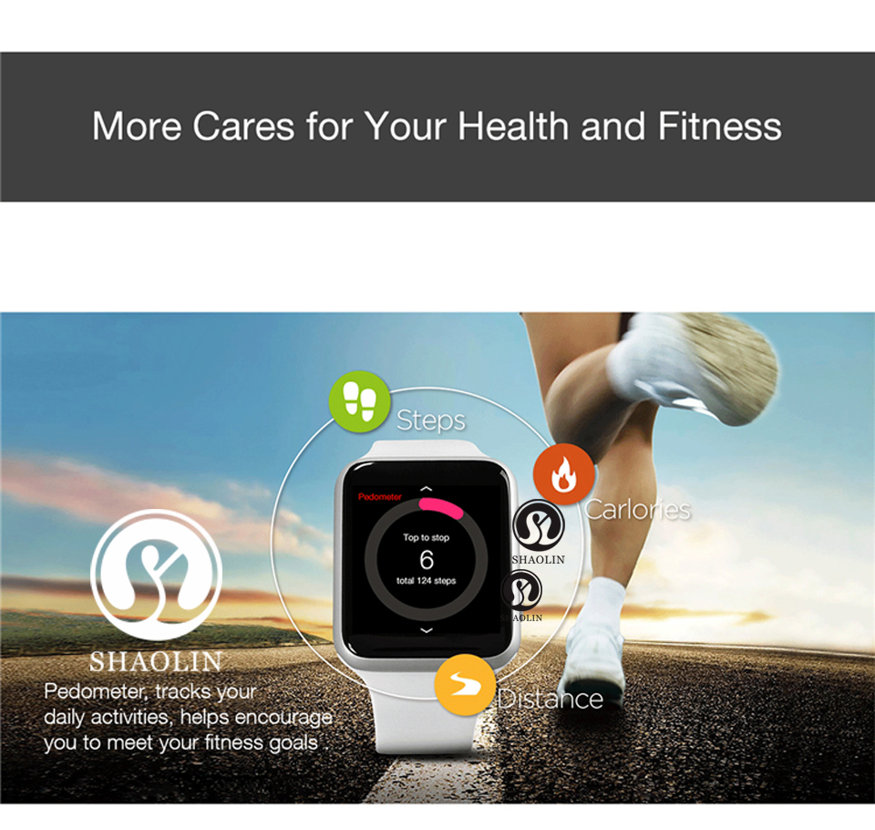 SHAOLIN Bluetooth Smart Watch Heart Rate Monitor Smartwatch Wearable Devices for iPhone IOS and Android Smartphones apple watch-15