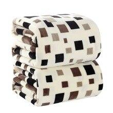 4 tamaños textiles para el Hogar a cuadros Cuadrado Japón Estilo Impreso 200 cm X 230 cm Chocolate Geométrica Lavado A Mano una cálida manta de franela en la cama