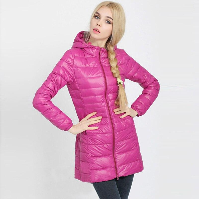 White Duck   Down   Parkas Winter jacket 2017 Woman Outerwear Slim Hooded   Down   Jacket Warm   Down     Coat   Women Ultra Light Jacket QH0928