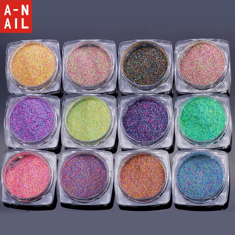 12 Boxen/set Nail Art Glitter Pulver Uv Gel Polnisch 12 Candy Farben Nagel Pigment 3d Nagel Tipps Staub Für Nägel Diy Dekoration Werkzeuge Nagelglitzer Schönheit & Gesundheit