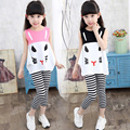 New Fashion Girls Set Princess Girl Clothing Sets T-Shirts Tops And Pants Roupas Infantis Menina Casual  Vetement Fille