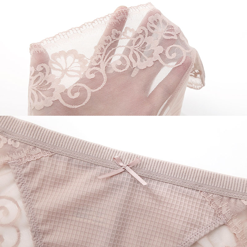 Good Quality Underwear Women Sexy Panty Satin Panties With Cotton Crotch Traceless Lingerie Femme PY 1 in women 39 s panties from Underwear amp Sleepwears