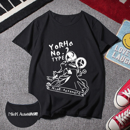 2018 New Nier Automata Cosplay T Shirt Short Sleeve O-Neck T-shirt for
