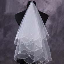 Simple and Elegent Wedding Bridal Veil Tulle White Ivory Bea