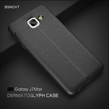 For Samsung Galaxy J7 Max Case Soft Leather Shockproof Anti-knock Phone Cover