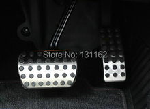 цена на LHD Sport Fuel Gas Brake Foot Rest Pedal Plate AT For Mercedes Benz W166 ML350 ML350CDI  W251 R350 R500 R550
