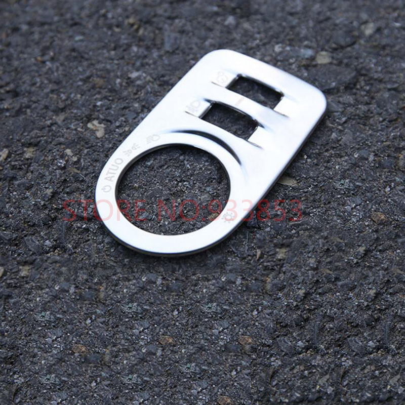 Stainless steel Matte Interior Headlight Switch Button Cover Trim For LHD Cruze 2017 2018 Styling Accessories
