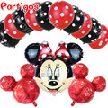 13pcs/lot mickey minnie Mouse foil balloons polka dot helium latex globos lot mickey ballons baby shower birthday decor kid toys