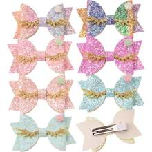 4 PCS Glitter Bows Sequin Bow Dance Party โบว์ Sparkly ผมอุปกรณ์เสริม Chic Hairclips Barrette Headwrap อุปกรณ์เสริมดอกไม้(China)