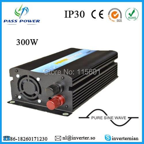 Free Shipping Portable 12V 24V 48V DV to 100V 110V 120V 220V 230V 240V AC Soft Start Pure Sine Wave 300W Car Inverter