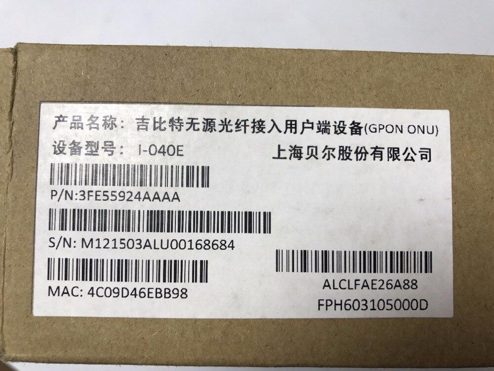 Venta I-040E Alcatel Lucent Red Óptica FTTH Terminales ONT GPON onu 12 V 1A Puerto GE versión Inglés