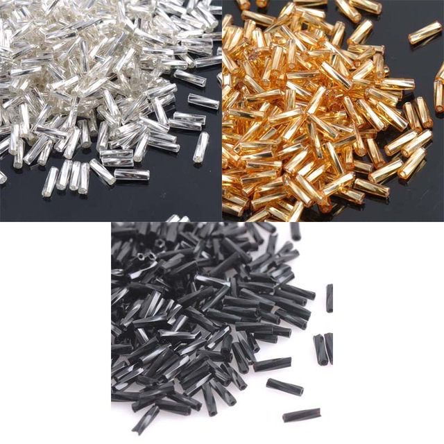 3 Color 6x2mm 500pcs Crystal Glass Spacer Beads, SILVER LINED Gold Silver Czech Seed Beads For Jewelry Handmade DIY BL6MMG02X