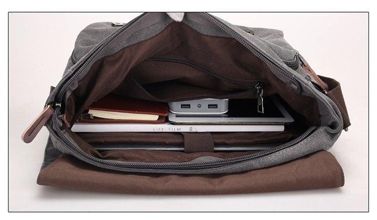 Micom Canvas Men Messenger Bags Vintage Shoulder Belt Bag Large Capacity Business Travel Bag Men\`s Canvas Crossbody Handbag New (29)