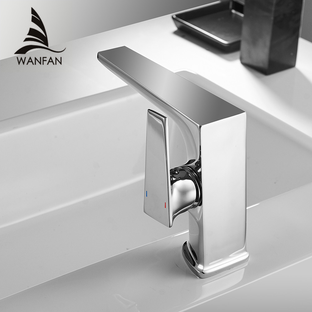 Basin Faucet Retro Chrome Faucet Taps Bathroom Sink Faucet Single Handle Hole Deck Vintage Wash Hot