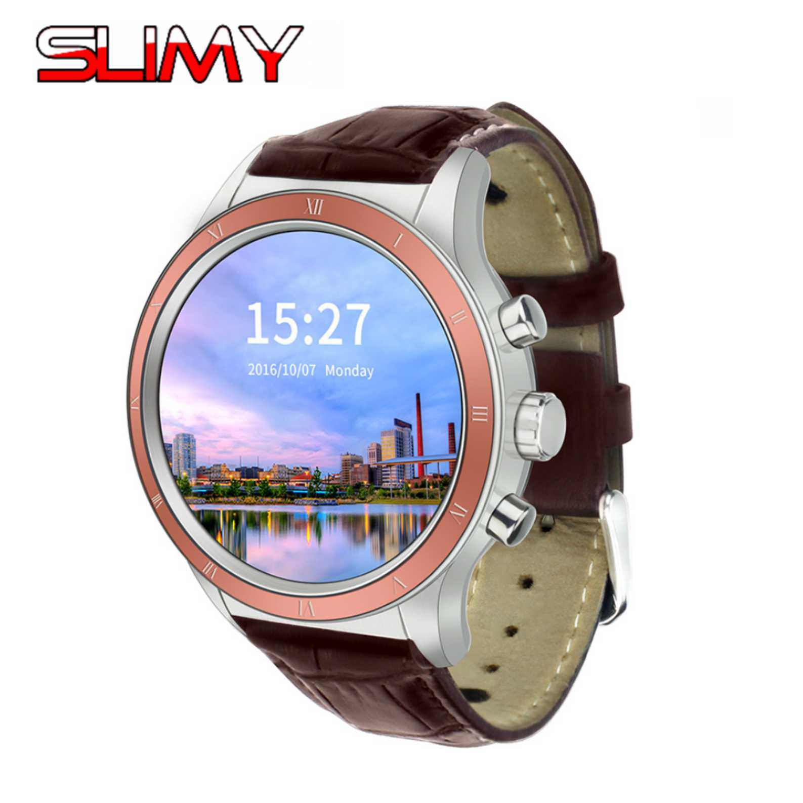 Slimy Y3 Smart Watch Android 5.1 OS Quad Core MTK6580 512MB+4GB Support GPS WIFI SIM 3G Smartwatch Phone for Android OS Phone smart baby watch q60s детские часы с gps голубые
