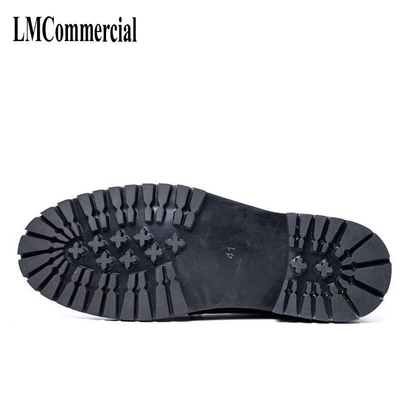 Cuero Tendencia Hombres De E Los Montar Espana Zapatos Vestido Invierno Corta Otoño Retro Coreanos Botas xwF66AUqHY