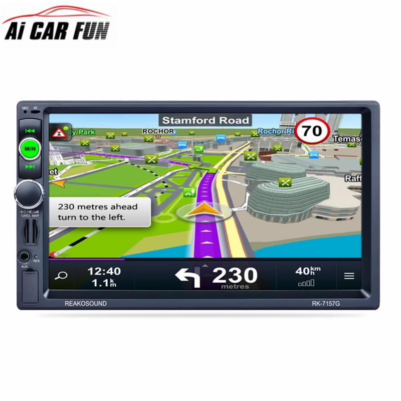 RK 7157G 7inch Car Radio 2Din Bluetooth MP5 Player Reversing Rear View AM FM RDS Radio