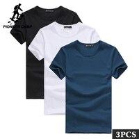 Пионерский лагерь упаковка из 3 содействие футболка с короткими рукавами брендовая мужская одежда летняя Однотонная футболка мужская повс...