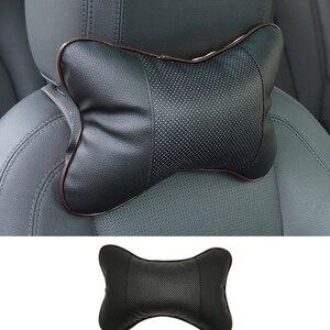 Image 4 - Protection du cou de voiture noire en PU, appui tête de voiture, appui tête de voiture, pour voyage, moto, accessoires pour BMW Auto