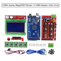 3D Printer Kits LCD 12864 Ramps 1.4 Mega2560 A4988 Driver GDeals