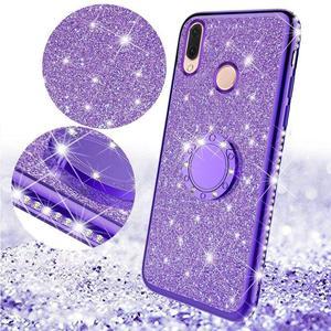 Image 2 - Glitter Diamond Case For XiaoMi Mi A2 lite RedMi Note 7 8 Pro 7s 6 6A 6 PRO 5 Plus Note 5 Pro K20 Magnetic Finger 360 Ring Cover