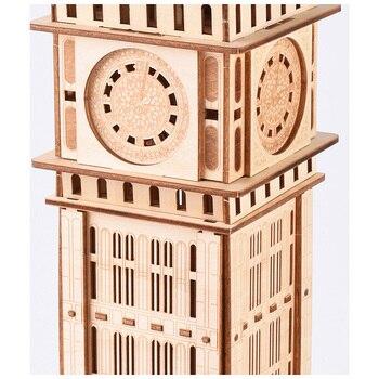 Kit Di Costruzione In Legno Per Bambini | Corredi Di Costruzione Di Modello Del Laser Di Taglio Di Puzzle 3D Puzzle Di Legno Modello Di Big Ben Regno Unito Modello Collezione Di Giocattoli Educativi Per I Bambini I Bambini