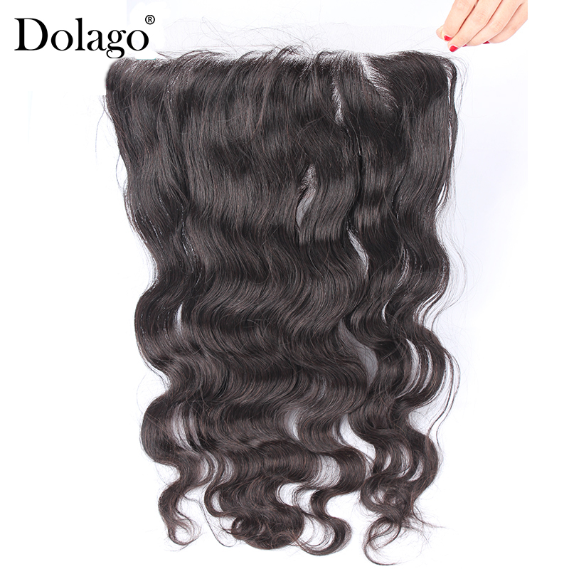 13x6 Body Wave Lace Frontal Closure Brazilian Human Hair Closure Pre Plucked With Baby Hair Remy