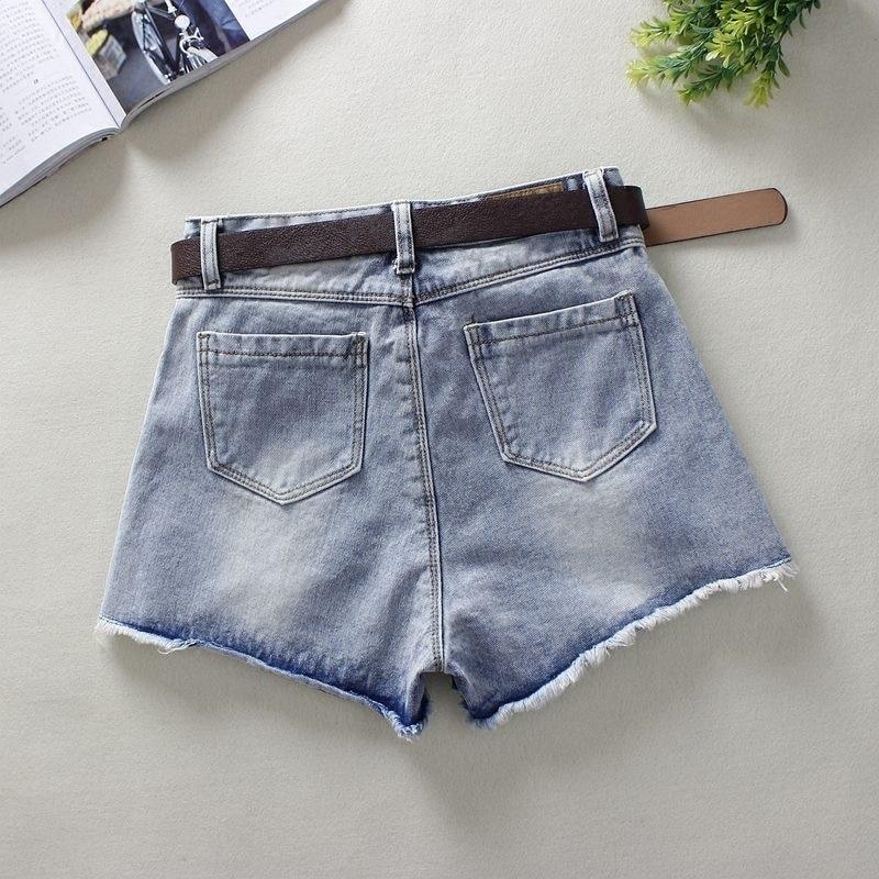 Solid Women Clothing Denim Shorts Pockets 2019 New Arrival Summer Ropa Mujer Slim Short Skirts Feminino Casual Jeans