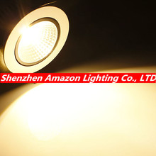 High Brightness COB led downlight lamp 6W 9W 12W 15W white shell AC85~265V spotlight ceiling Warm / Cool White Free Shipping