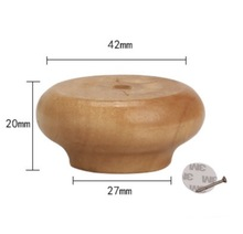 8Pieces/Lot  Height:20x42mm Solid Wood Cabinet Table Foot Mat Ball Furniture Legs Pad