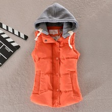 Women Vest Sleeveless Autumn Hooded Short Winter Plus Size Coats 6XL Vests And Waistcoat Woman