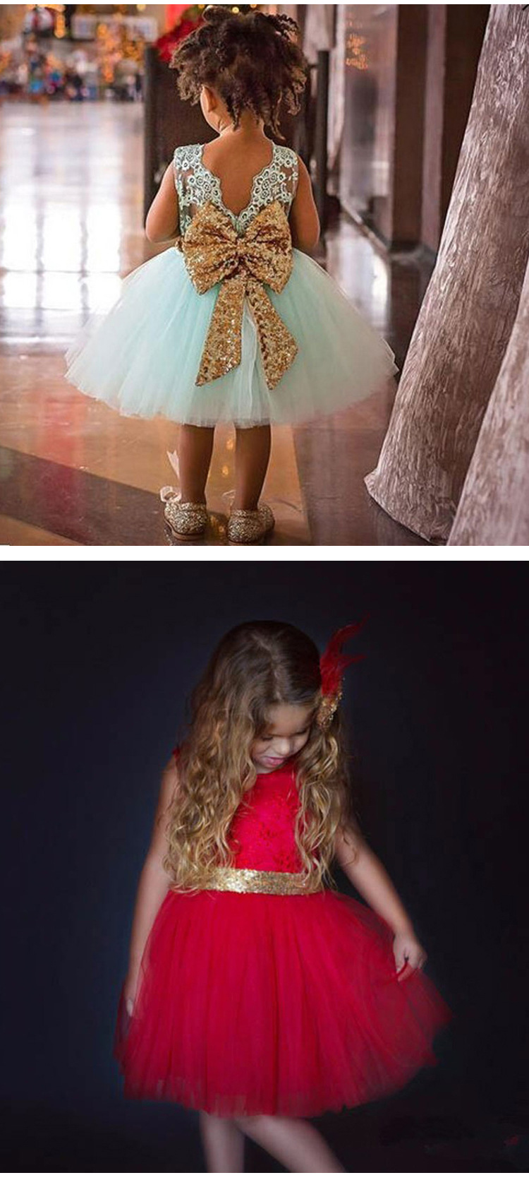 LZH Summer Baby Girls Dress Kids Sequins Bowknot Wedding Party Dresses Christmas Costume Girls Princess Dress For Girls Clothes 25