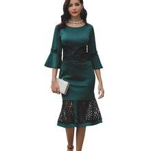 Женское кружевное платье в стиле пэчворк повседневное облегающее