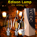 YCDC luz incandescente bombilla e14 e12 lámpara retro Vintage edison filamento iluminación interior para el hogar decoración ampolla lampada vintage