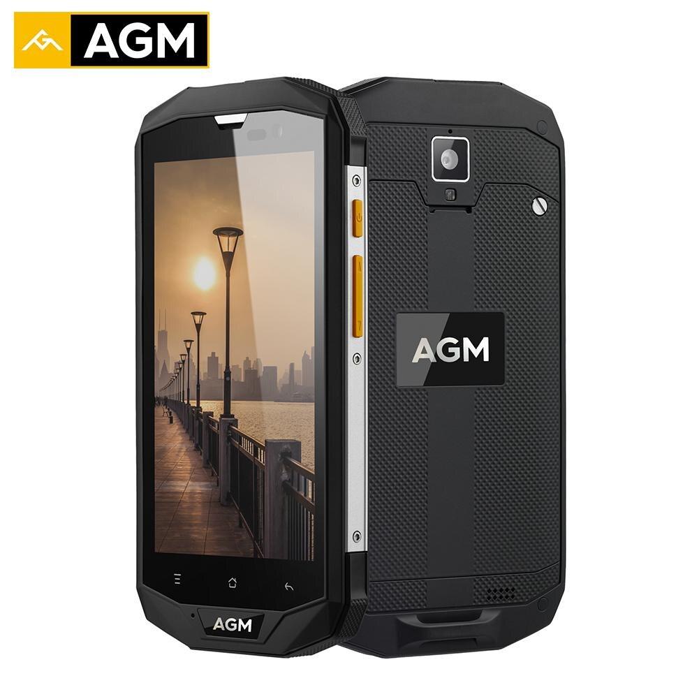AGM A8 SE IP68 Waterproof Mobile Phone 5.0 HD 1280x720 2GB RAM 16GB ROM Qualcomm MSM8916 Quad Core 8.0MP 4050mAh OTG Smartphone