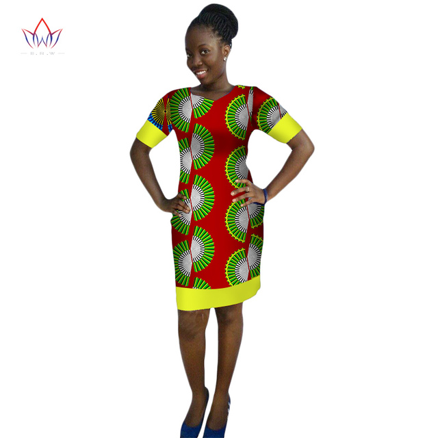5d6436e6aee 2017 BRW African Dresses for Women Dashiki Fashion Bodycon Dress of Summer Succinct  Traditional O-Neck Clothing For Lady WY421