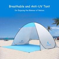 1Set Full Automatic Tent Beach Tent Festival Shelter Instant Pop up Sun Screen Fishing Garden Quick Open Tent (120+60)*150*100cm