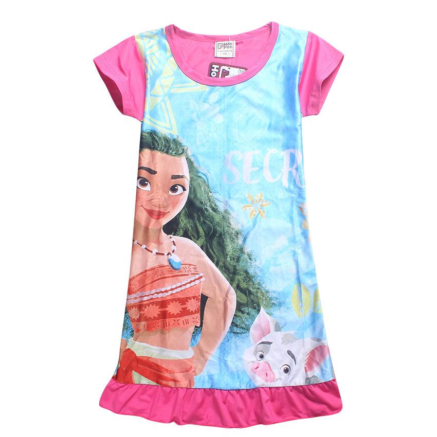 2017 Summer Moana Dresses for Girls Princess Birthday Party Dress Children Elsa Anna trolls Costume Kids Clothes Vestido vaiana (9)