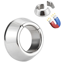 Stainless Steel Cock Rings Magnetic Delay Ring Ball Stretcher Weights Dick Ring Penis Ring Scrotum Male Rings Sex Toys For Men