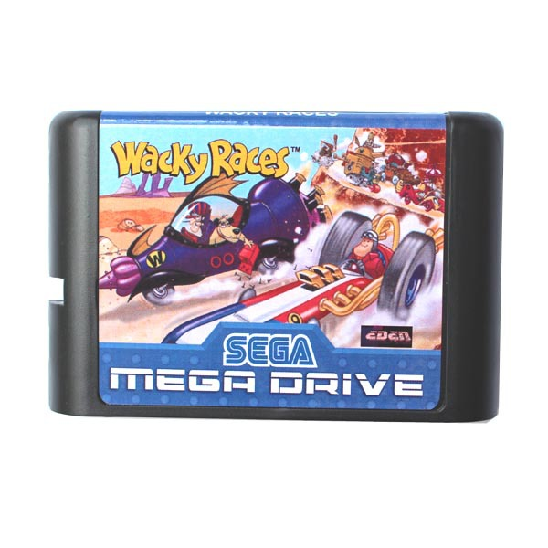 Wacky Races 16 bit MD Game Card For Sega Mega Drive For Genesis ...