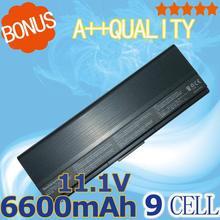 9 CELLULES 6600 mah 11.1 v Batterie D'ordinateur Portable 90-ND81B1000T 90-ND81B2000T A32-U6 Pour Asus N20 N20A U6S U6SG U6VC