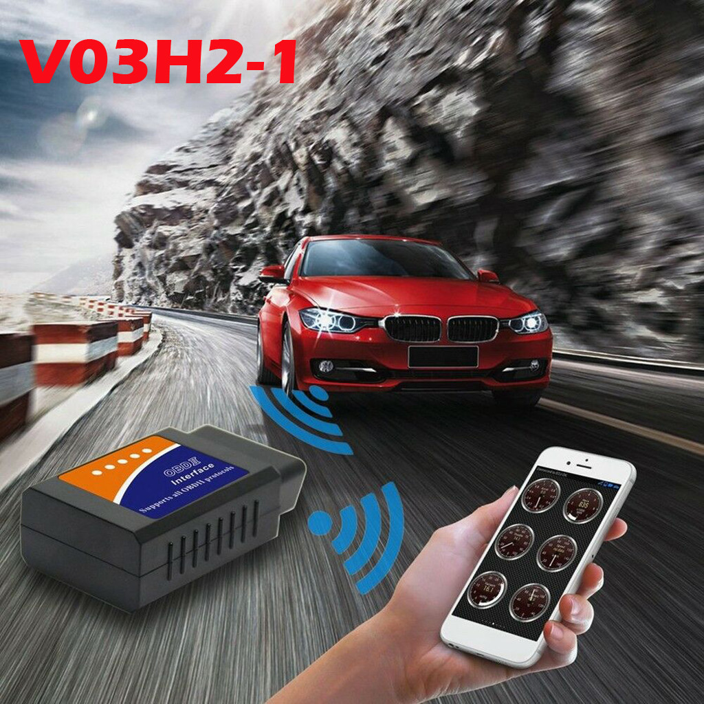 Image 2 - V03H2 1 Vehicle Car error Diagnostic Scanner OBDII Bluetooth 2.0 Code Readers HM 16pin OBDII standard for Android Windows