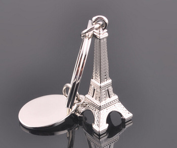 Free shipping Creative Paris Eiffel Tower Keychain gift key chain keychain fashion classic German car key ring for friends